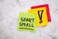 start small advice - PhotoDune Item for Sale