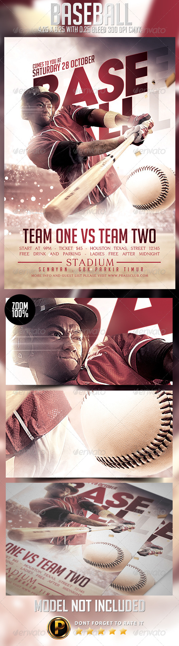 GraphicRiver Baseball Flyer Template 8659409