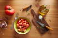 Bowl of raw tomato salad - PhotoDune Item for Sale