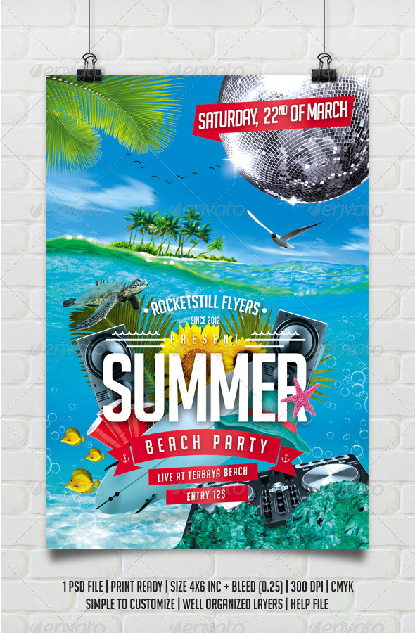 GraphicRiver Summer Beach Party 8659584
