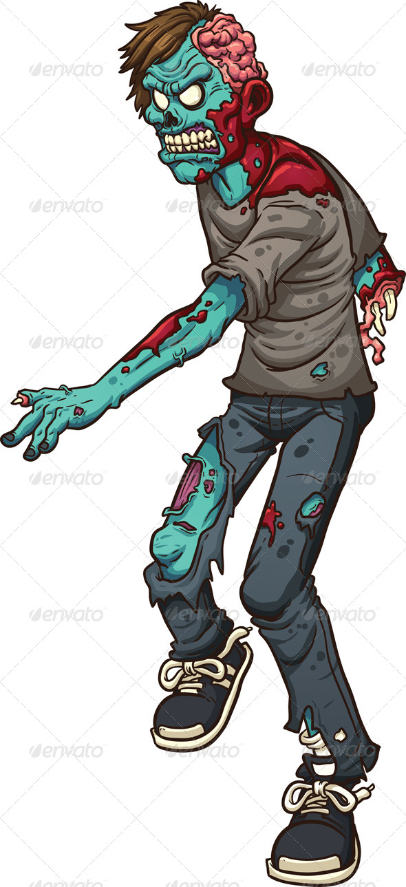 GraphicRiver Walking Zombie 8659618