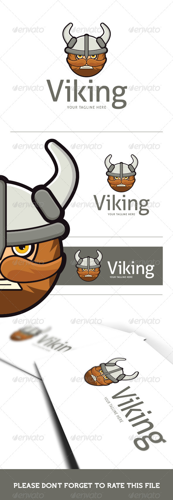 GraphicRiver Viking Logo Template 8659701
