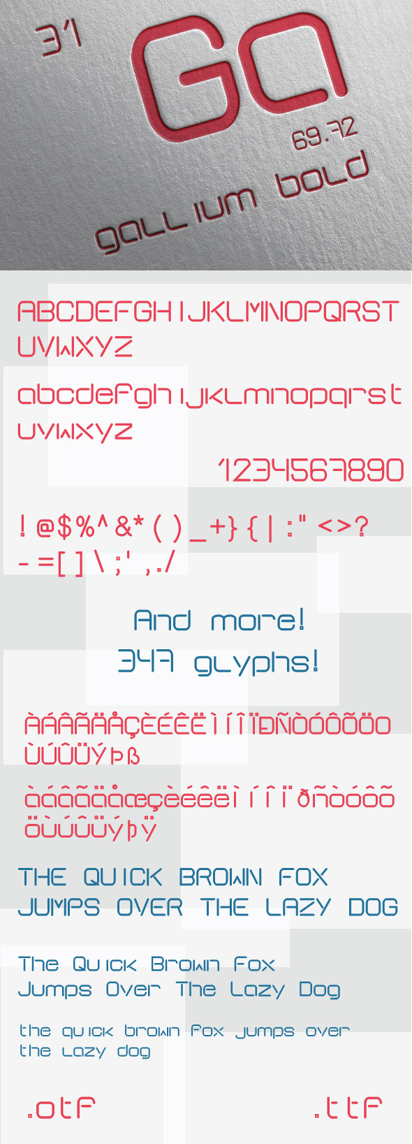 GraphicRiver Gallium Bold Font 8659877