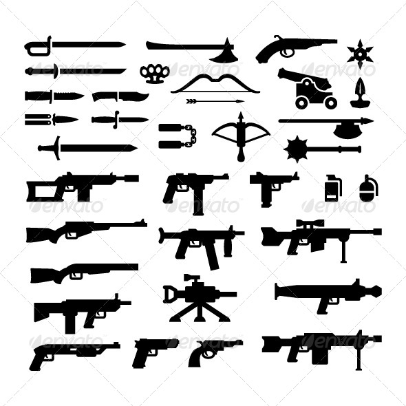 GraphicRiver Set Icons of Weapons 8660040