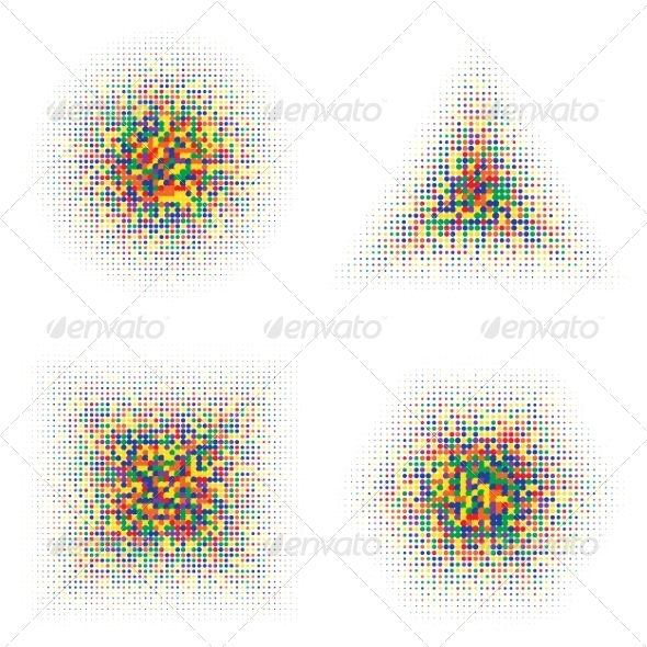 GraphicRiver Color Halftone Shapes 8660222
