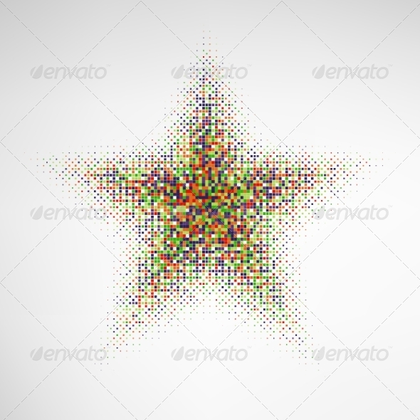 GraphicRiver Color Halftone Star 8660225