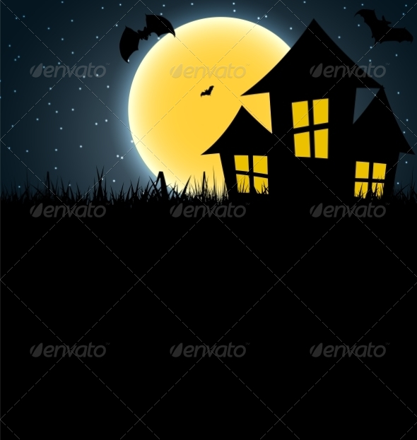 GraphicRiver Halloween Background with Pumpkin 8660241