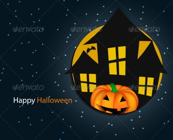 GraphicRiver Halloween Background with Pumpkin 8660246