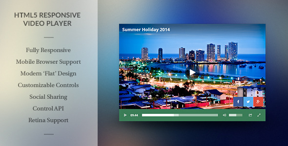 Modern HTML5 Responsive Video Player