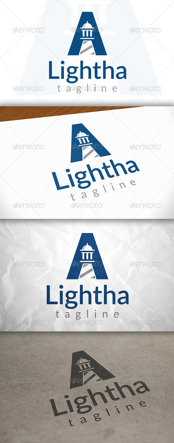 GraphicRiver Lighthouse A Letter Logo 8660274