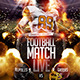 Football Game Live Flyer Template - GraphicRiver Item for Sale