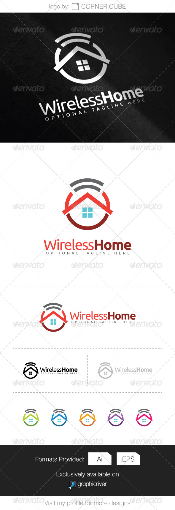GraphicRiver Wireless Home Logo 8660556