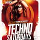 Techno Saturdays Club Flyer Template - GraphicRiver Item for Sale