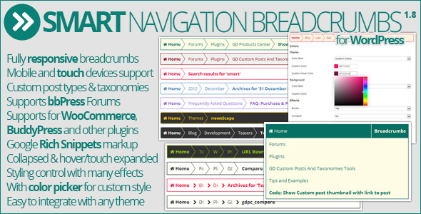 Smart Navigation Breadcrumbs - CodeCanyon Item for Sale