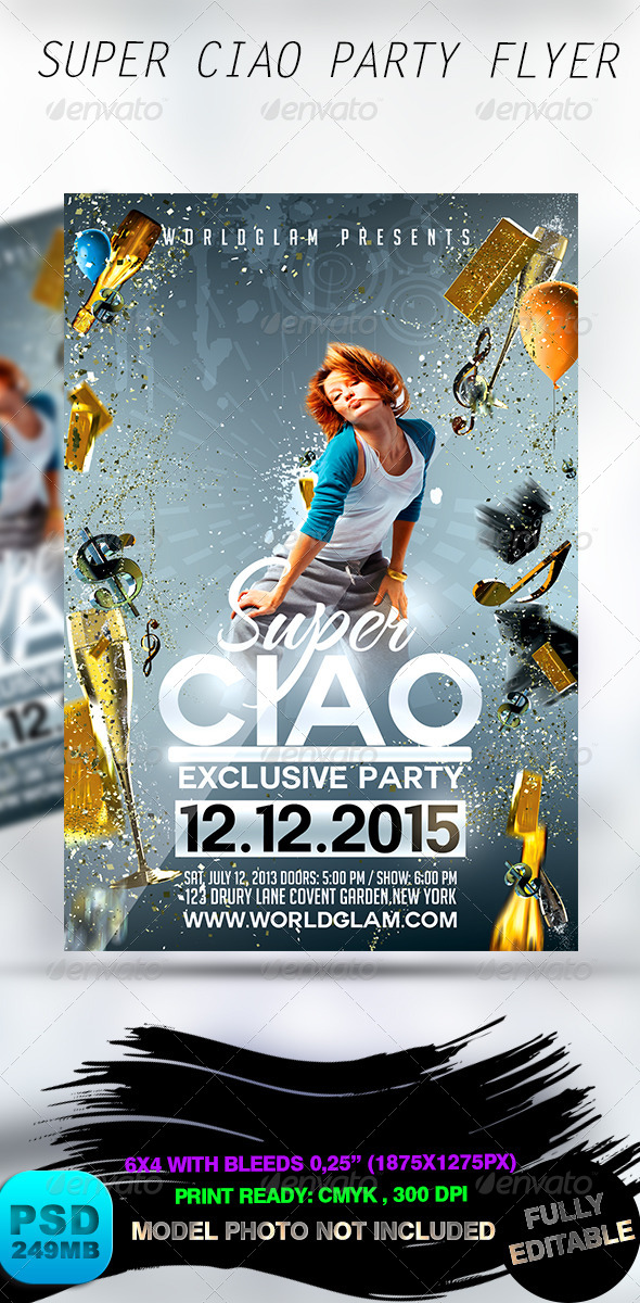 GraphicRiver Super Ciao Party Flyer 8660706