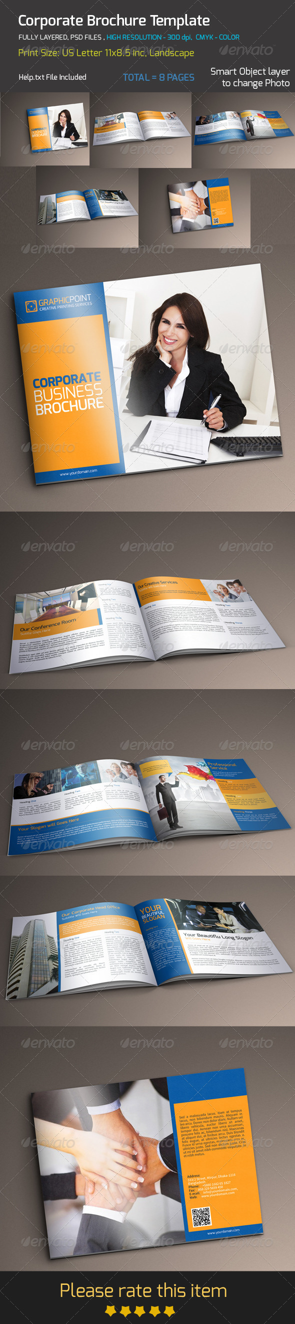 GraphicRiver Corporate Brochure Template 8660776