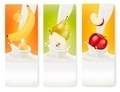Three fruit and milk banners - PhotoDune Item for Sale