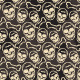 Seamless Pattern with Beige Skulls and Bones - GraphicRiver Item for Sale