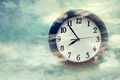 Wall clock on surreal background - PhotoDune Item for Sale