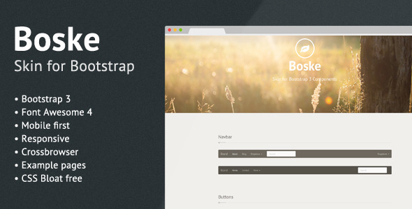 Boske - Skin for Bootstrap 3 - CodeCanyon Item for Sale