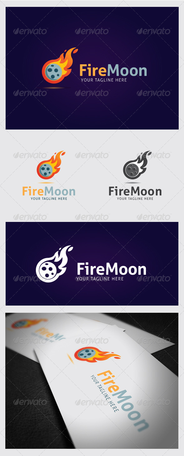GraphicRiver Firemoon Logo Template 8661120