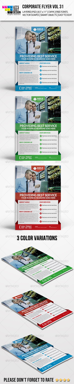 GraphicRiver Corporate Flyer Template Vol 31 8661145