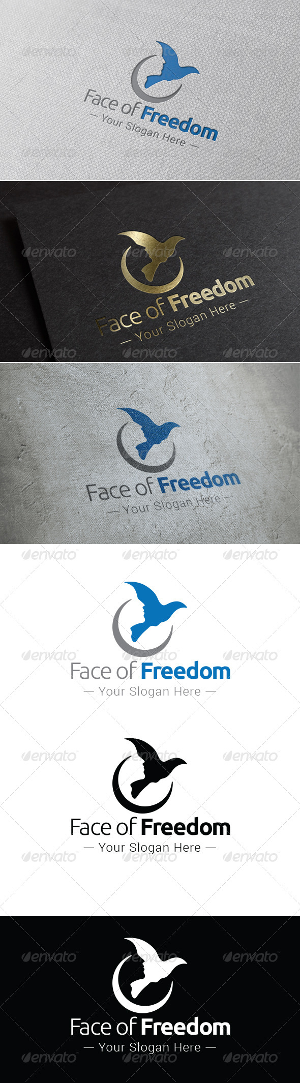 GraphicRiver Face of Freedom Logo Template 8661171