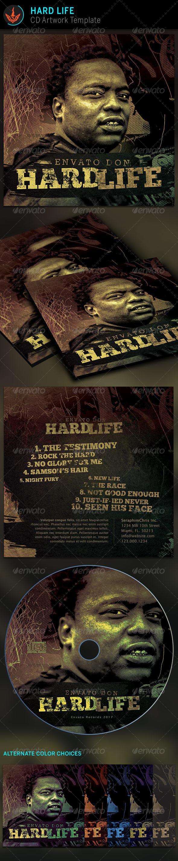 Hard Life CD Artwork template - CD & DVD artwork Print Templates