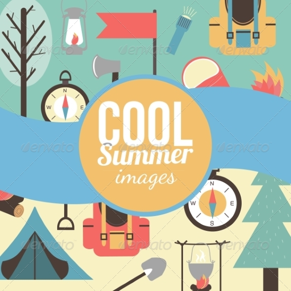GraphicRiver Summertime Vacations and Traveling Background 8661242