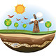 Little Island with Windmil - GraphicRiver Item for Sale