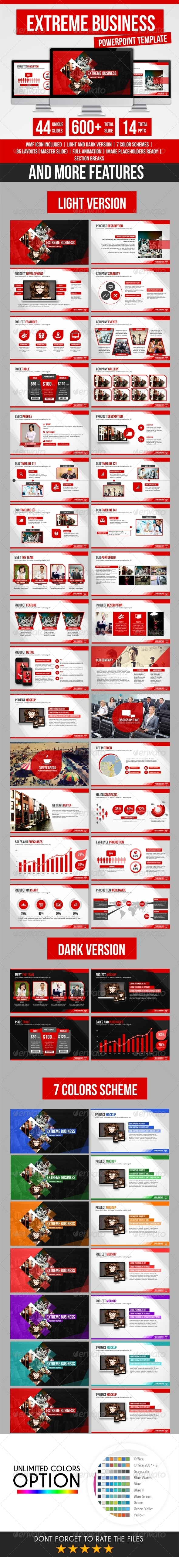 GraphicRiver Extreme Bussiness PowerPoint Template 8661344