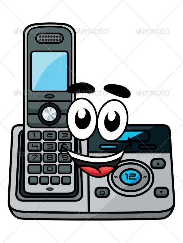 GraphicRiver Cartoon Cordless Phone 8661347