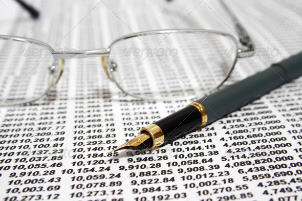FInancial report - Stock Photo - Images