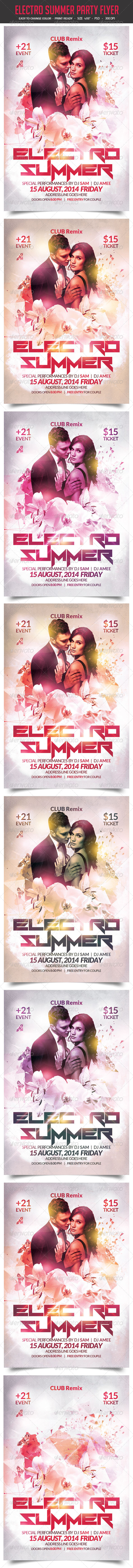 GraphicRiver Electro Summer Party Flyer 8661388