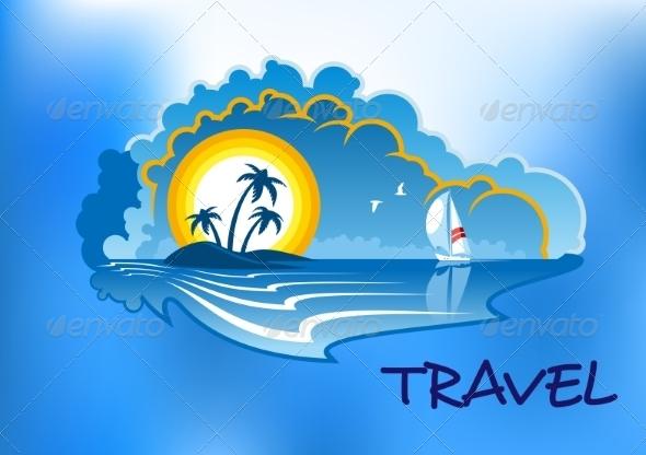 GraphicRiver Tropical Beach Landscape 8661393