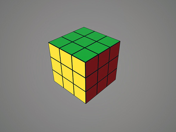 Rubiks Cube 3x3 - 3DOcean Item for Sale