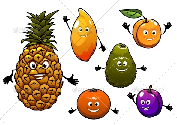 GraphicRiver Cartoon Fruit Set 8661413