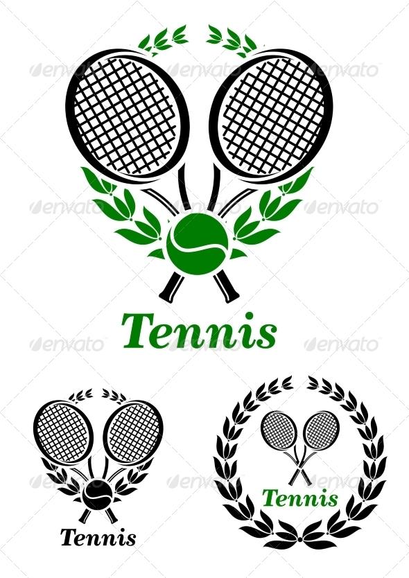 GraphicRiver Tennis sporting emblem or logo 8661445