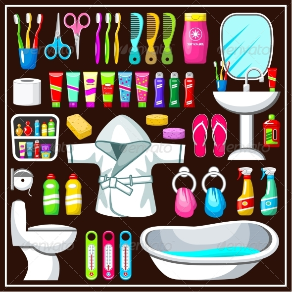 GraphicRiver Bathroom Equipment Set 8661473