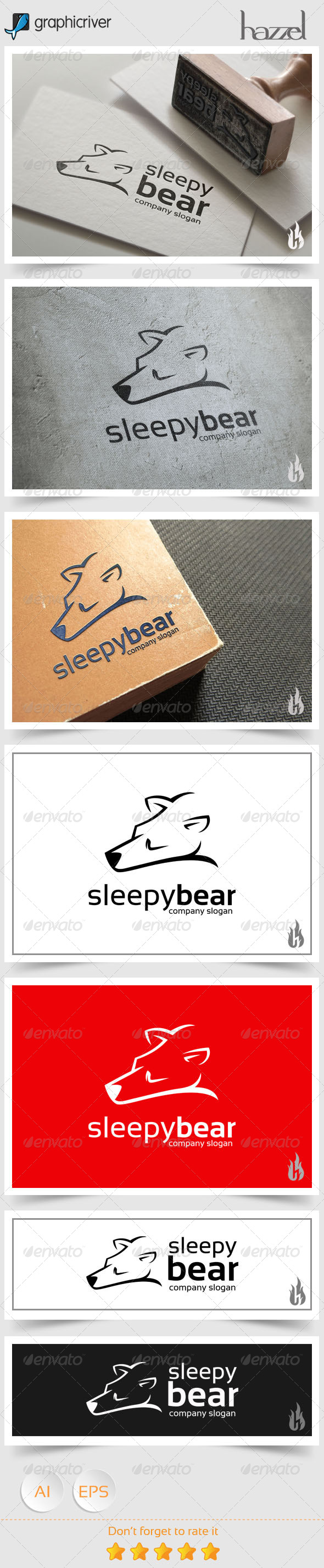 GraphicRiver Sleepy Bear Logo 8661477