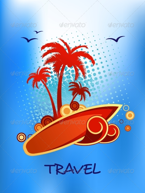 GraphicRiver Tropical Island Travel Poster 8661505
