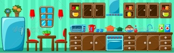 GraphicRiver Kitchen Interior 8661514