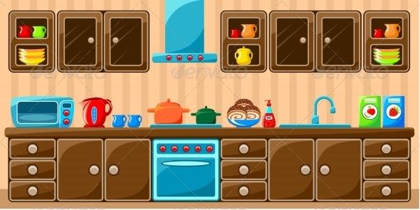GraphicRiver Kitchen Interior 8661515
