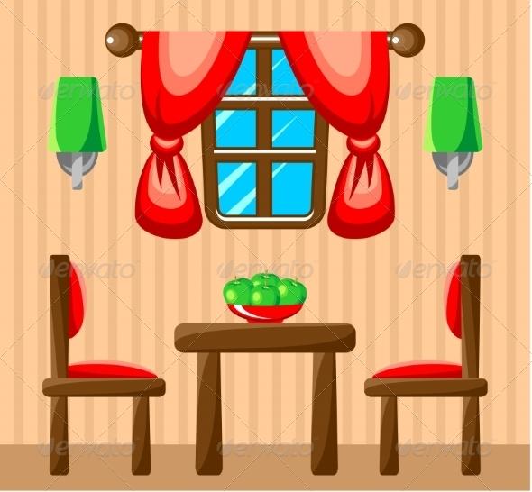 GraphicRiver Dining Room Interior 8661516