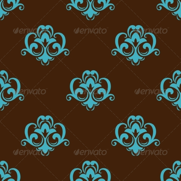GraphicRiver Retro Azure Seamless Pattern 8661517