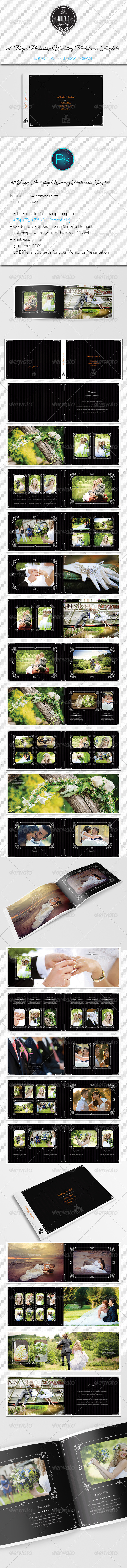 GraphicRiver 40 Pages Photoshop Wedding Photobook Template 8661523