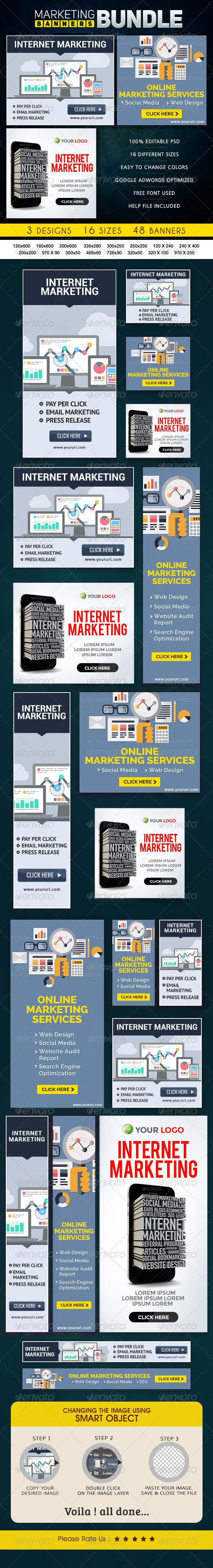 GraphicRiver Marketing Banner Bundle 3 Sets 8662105