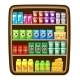 Supermarket. Shelfs with Food. - GraphicRiver Item for Sale