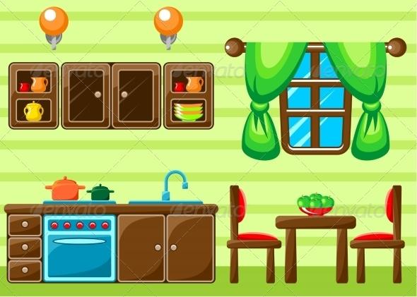 GraphicRiver Kitchen Interior 8662109