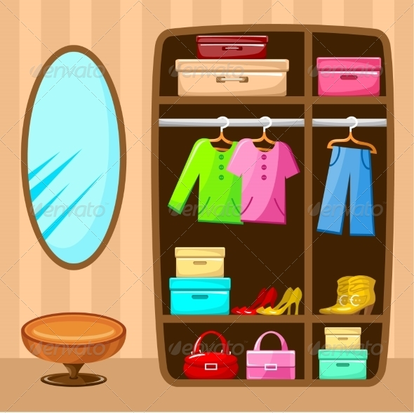 GraphicRiver Wardrobe Room Furniture 8662118